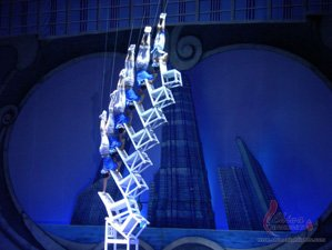 An acrobatic show at Shanghai Circus World
