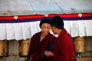 Monks at Tashi Lhunpo Monastery