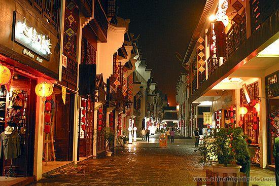 Beautiful night scene of Yangshuo West Street