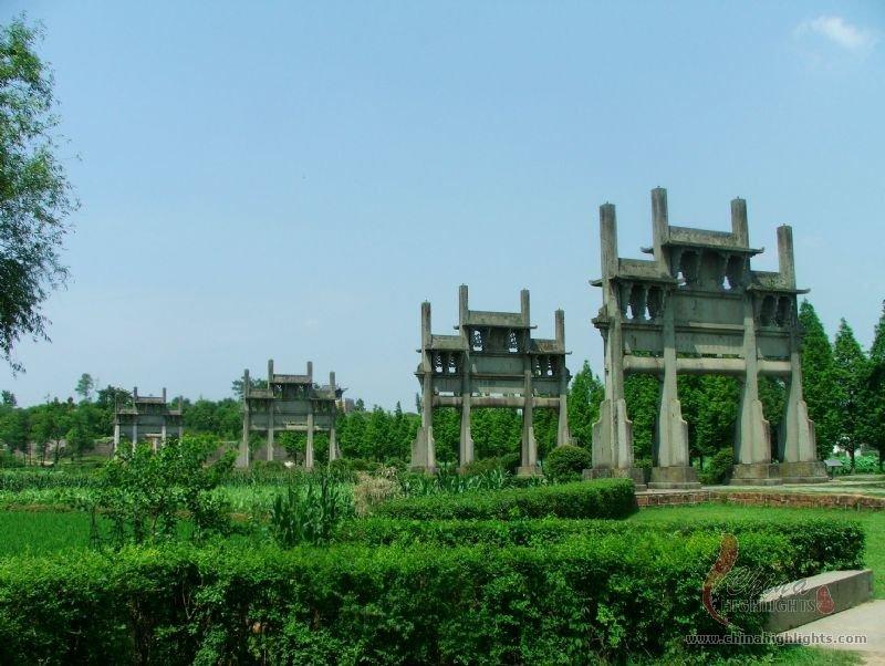 Huangshan tangyue memorial archways china highlights