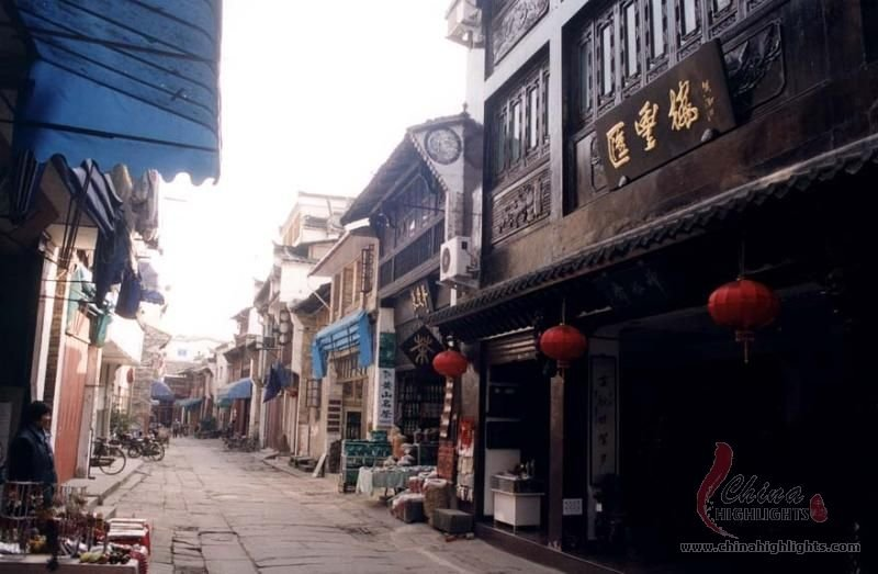 Tunxi Old Street up close