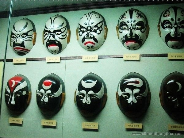 Display of Masks at the City God Temple