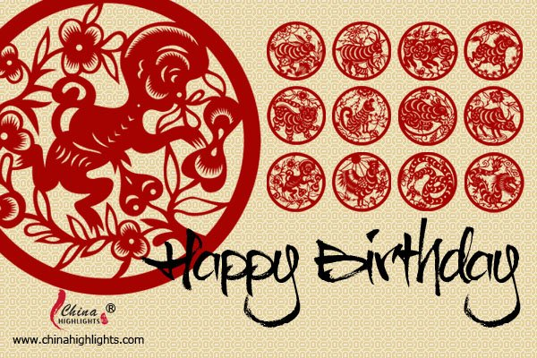 Monkey - Chinese Zodiac Birthday Card