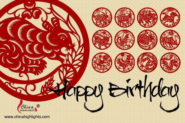 Rat - Chinese Zodiac Birthday Card