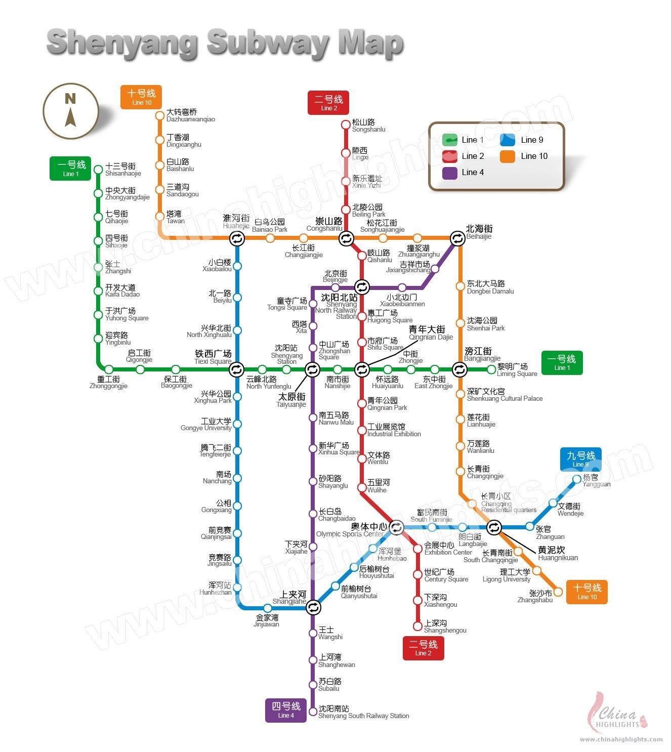 Shenyang Subway Map