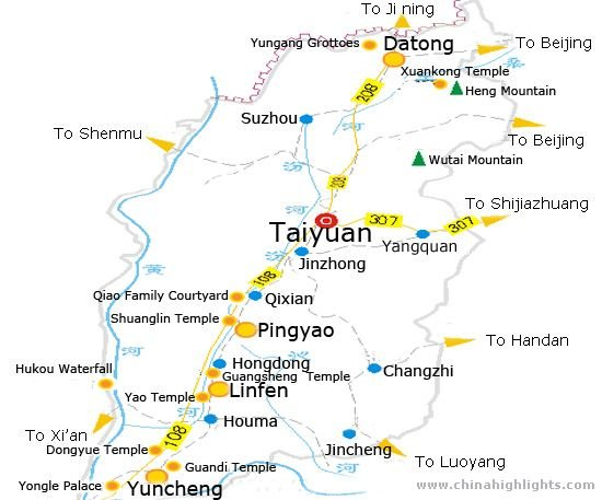 Taiyuan Tourists Map