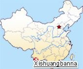 Map of Xishuanbanna's Location