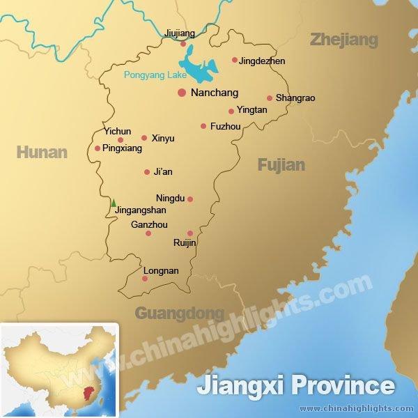 Jiangxi Province Map