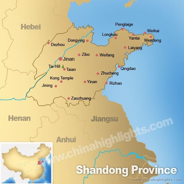 Shandong Province Map