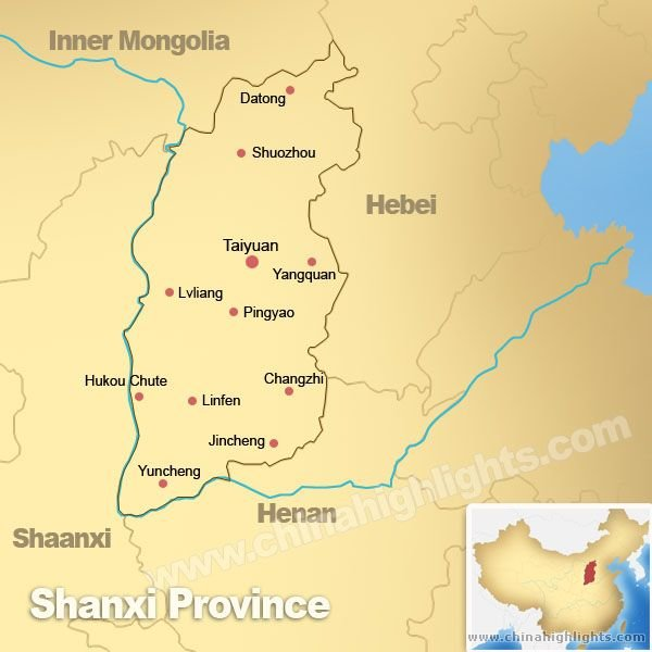 Shanxi Province Map