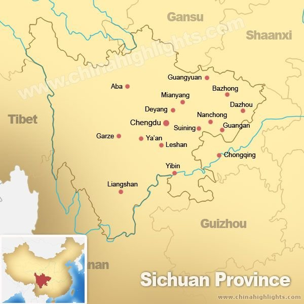 Sichuan Province Map