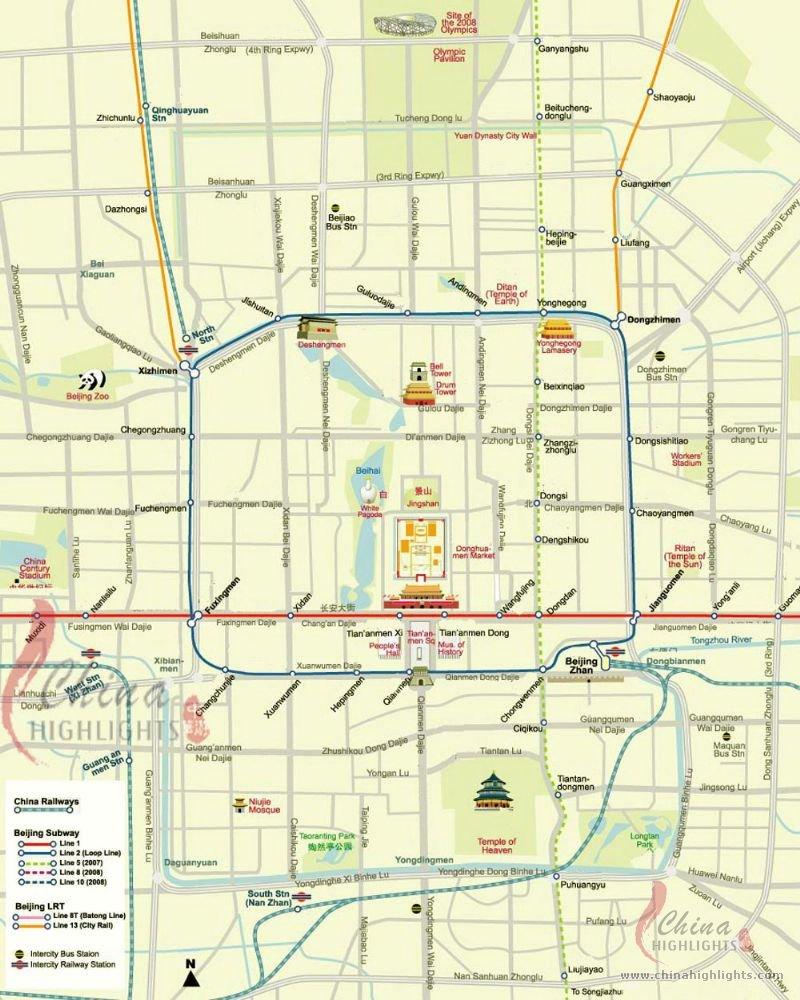 Beijing Town Map