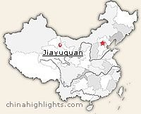 Jiayuguan Location Map