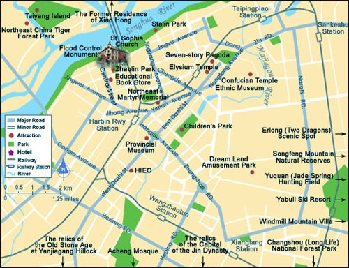 Harbin City Center Map