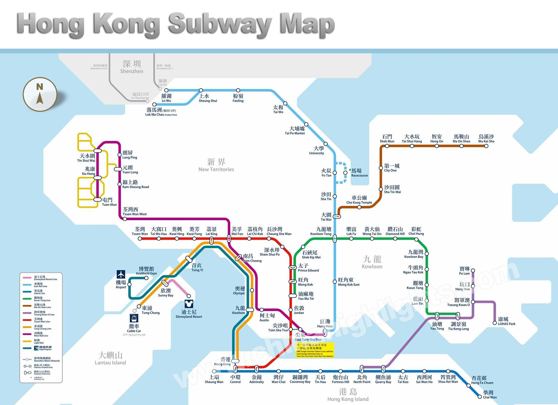Hong Kong Maps – Hong Kong Map For Tourist