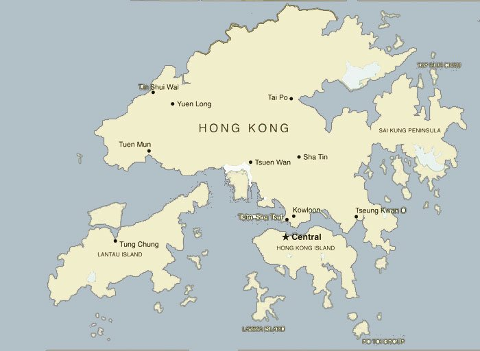 Hong Kong Location Map