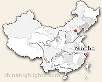 Ningbo's Location Map