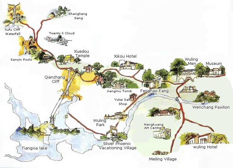 ningbo maps  maps of ningbo tourist attrations