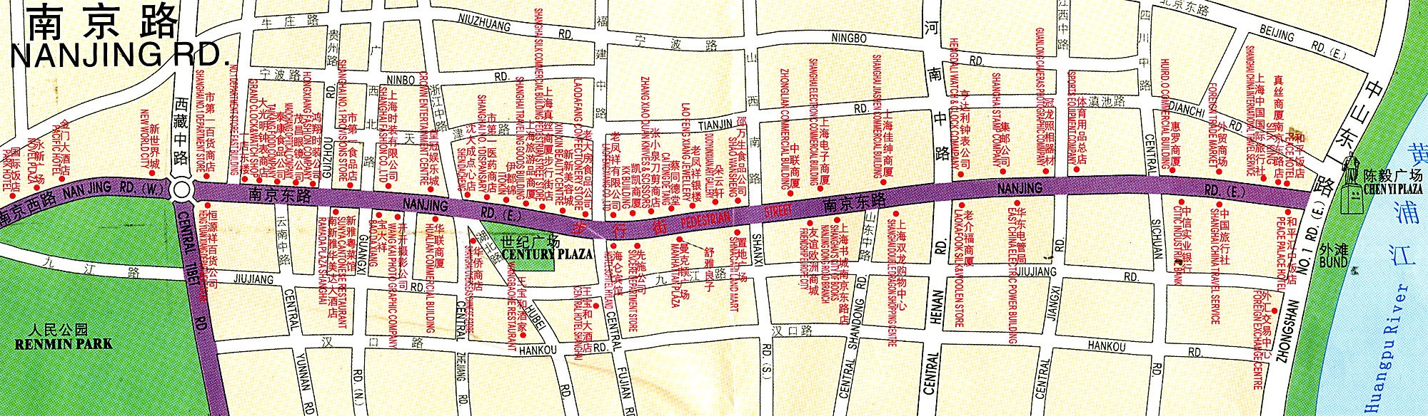 Shanghai Nanjing Road Map