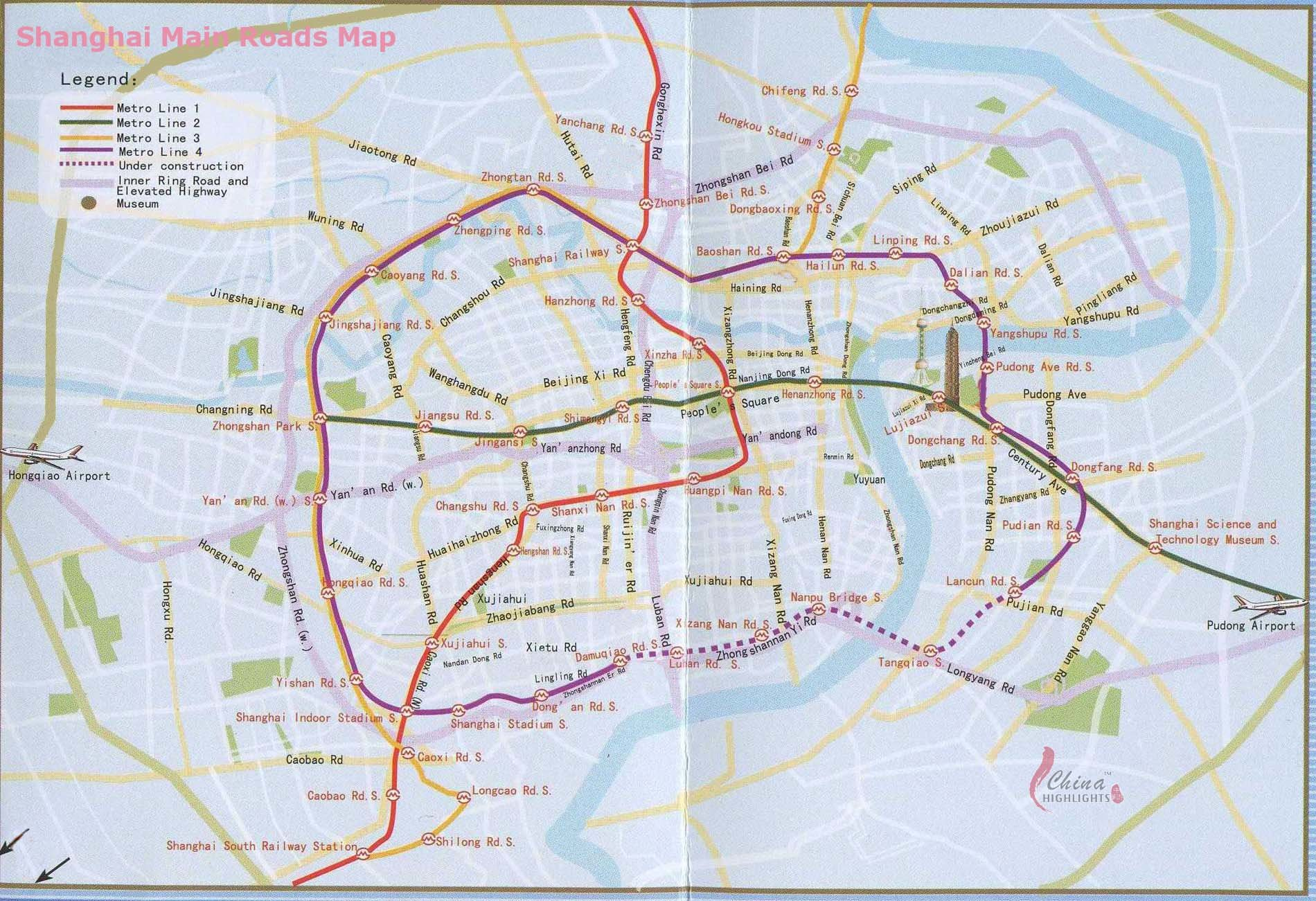 Shanghai Roads Map