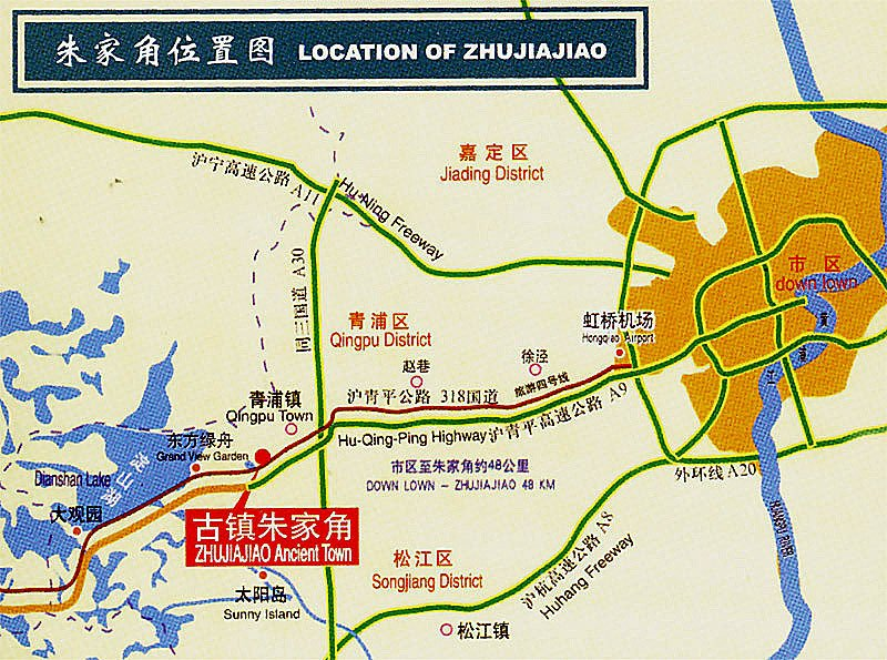 Zhujiajiao Map