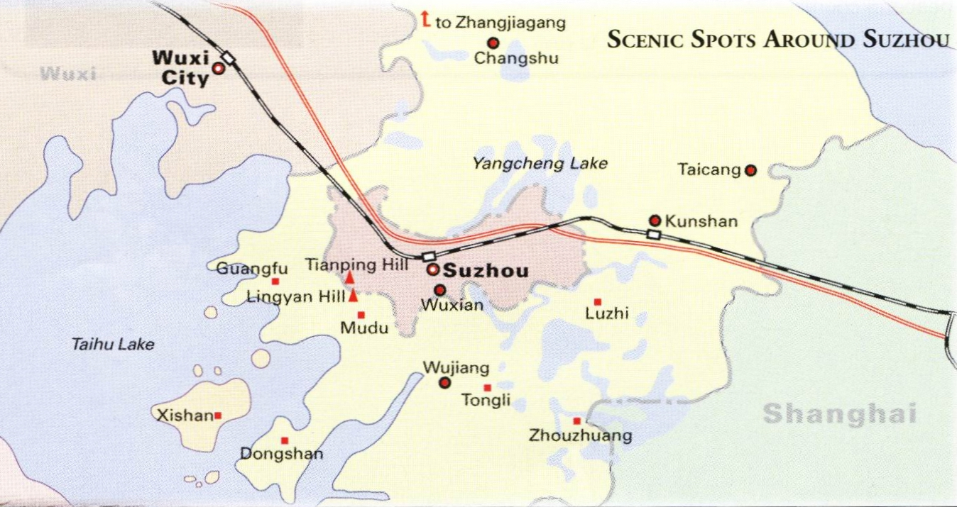 Map of Suzhou Area