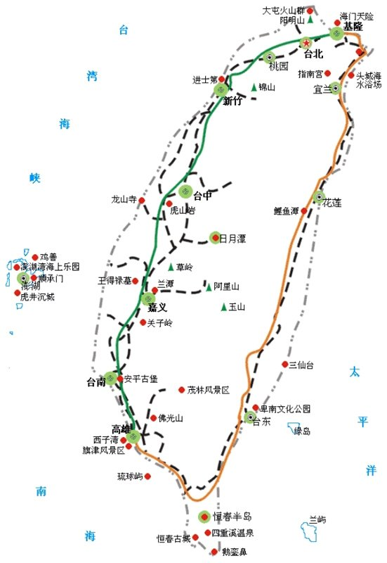 Images and Places Pictures and Info taiwan city map – Taiwan Tourist Attractions Map