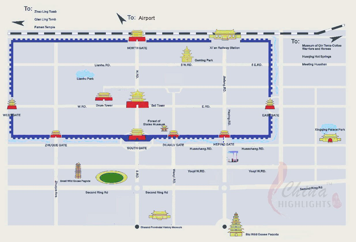 Xi'an Attraction Photo Map
