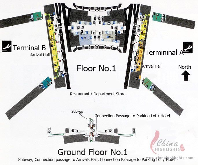 Baiyun Airport Ground Map