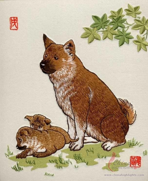 Изображения китайских знаков зодиака, вышитых не знаю в какой технике.  А так как наступает год тигра, самое время...