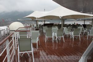 Sun deck of Yangtze Gold 1